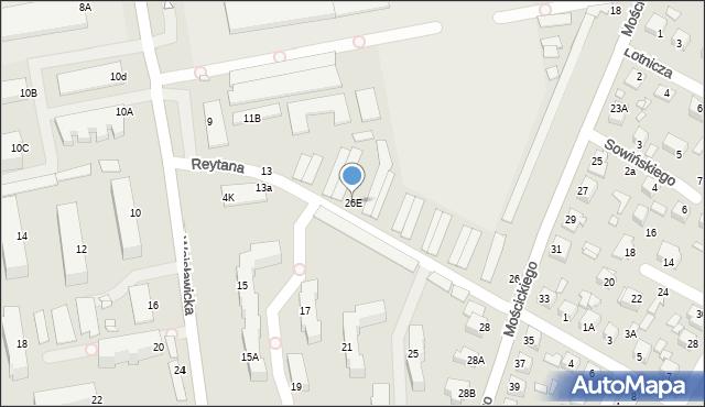 Chełm, Mościckiego Ignacego, 26E, mapa Chełma