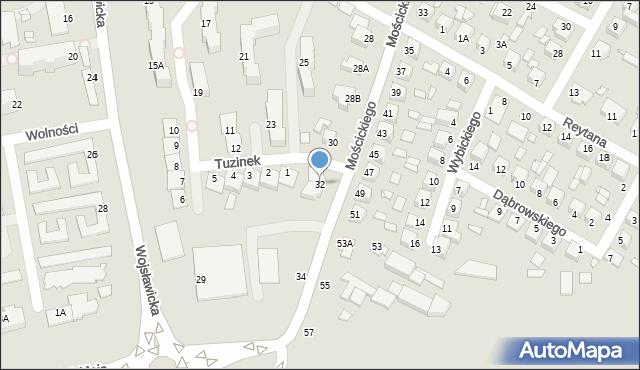 Chełm, Mościckiego Ignacego, 32, mapa Chełma