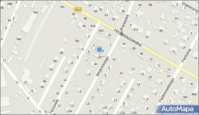 Chełm, Mościckiego Ignacego, 4A, mapa Chełma