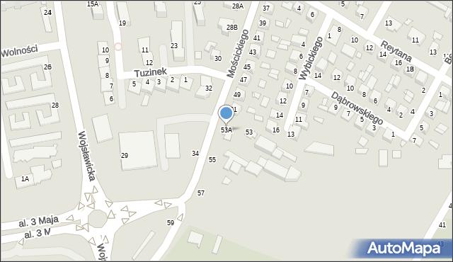 Chełm, Mościckiego Ignacego, 53A, mapa Chełma