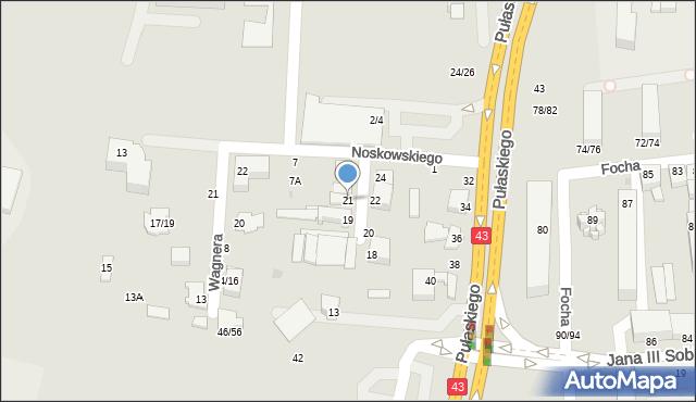 Częstochowa, Mozarta Wolfganga Amadeusza, 21, mapa Częstochowy