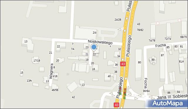 Częstochowa, Mozarta Wolfganga Amadeusza, 22, mapa Częstochowy