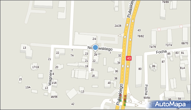 Częstochowa, Mozarta Wolfganga Amadeusza, 24, mapa Częstochowy