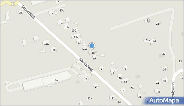 Dobczyce, Mostowa, 11b, mapa Dobczyce