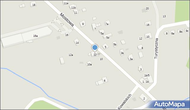 Dobczyce, Mostowa, 12, mapa Dobczyce