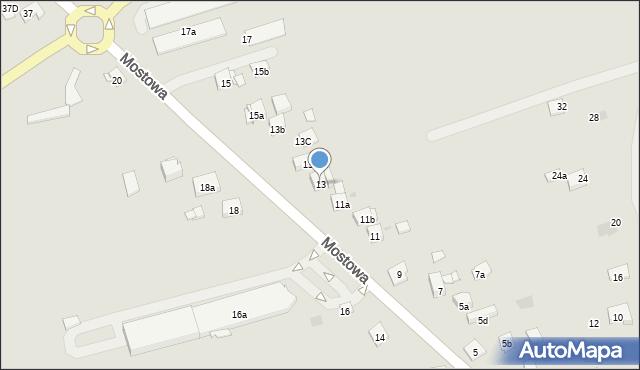 Dobczyce, Mostowa, 13, mapa Dobczyce