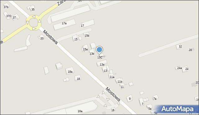 Dobczyce, Mostowa, 13C, mapa Dobczyce