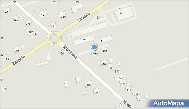 Dobczyce, Mostowa, 15, mapa Dobczyce