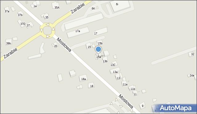 Dobczyce, Mostowa, 15a, mapa Dobczyce