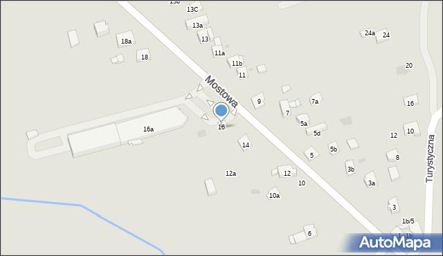 Dobczyce, Mostowa, 16, mapa Dobczyce