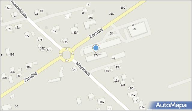 Dobczyce, Mostowa, 17a, mapa Dobczyce