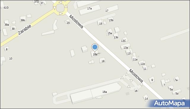 Dobczyce, Mostowa, 18a, mapa Dobczyce