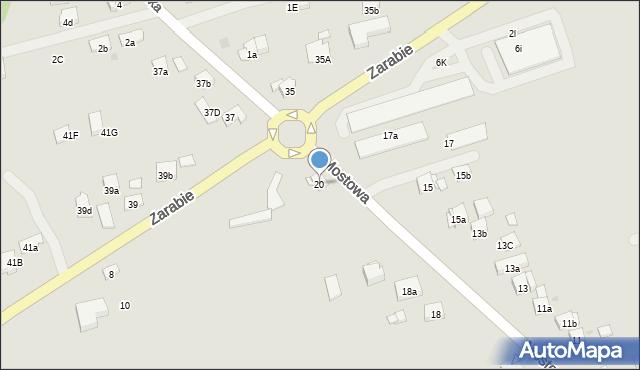 Dobczyce, Mostowa, 20, mapa Dobczyce