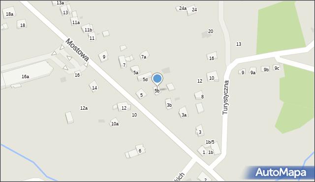 Dobczyce, Mostowa, 5b, mapa Dobczyce