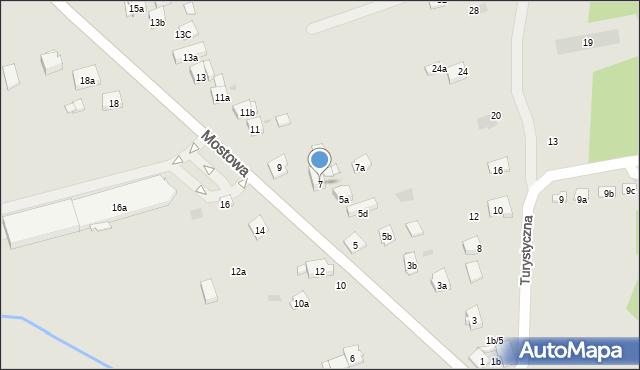 Dobczyce, Mostowa, 7, mapa Dobczyce