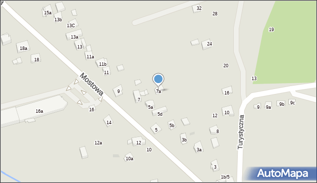 Dobczyce, Mostowa, 7a, mapa Dobczyce