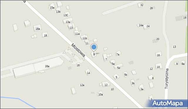 Dobczyce, Mostowa, 9, mapa Dobczyce