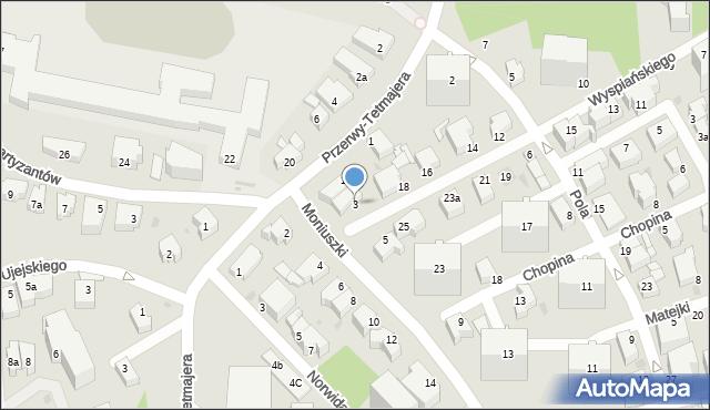 Gdynia, Moniuszki Stanisława, 3, mapa Gdyni