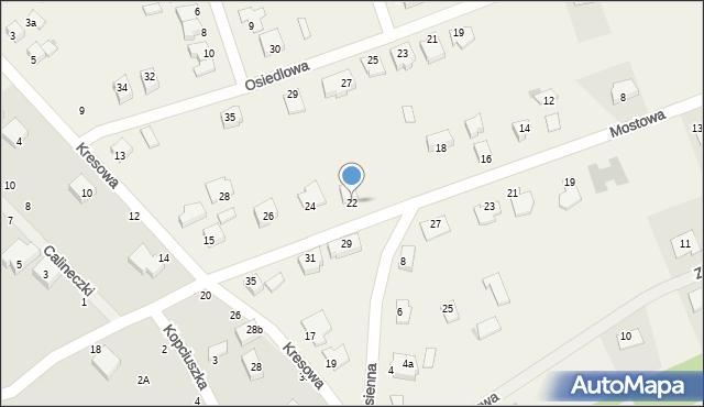 Grębocin, Mostowa, 22, mapa Grębocin