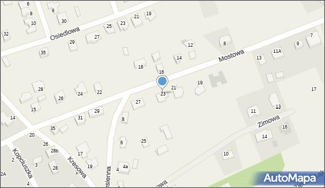 Grębocin, Mostowa, 23, mapa Grębocin