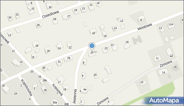 Grębocin, Mostowa, 27, mapa Grębocin