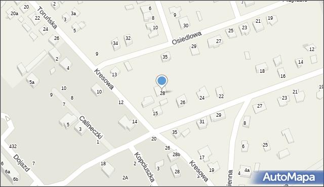 Grębocin, Mostowa, 28, mapa Grębocin