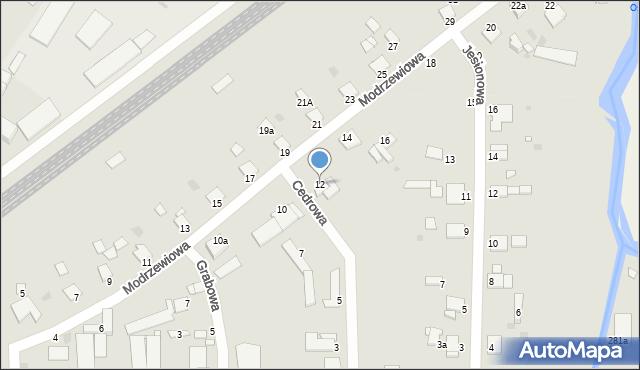 Grudziądz, Modrzewiowa, 12, mapa Grudziądza