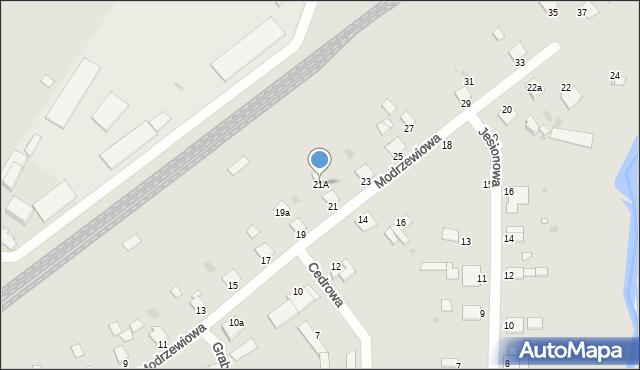 Grudziądz, Modrzewiowa, 21A, mapa Grudziądza