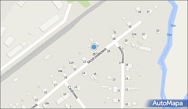 Grudziądz, Modrzewiowa, 25, mapa Grudziądza