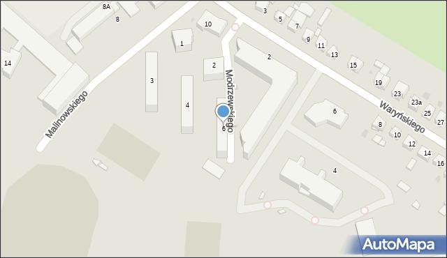 Grudziądz, Modrzewskiego Andrzeja Frycza, 6, mapa Grudziądza