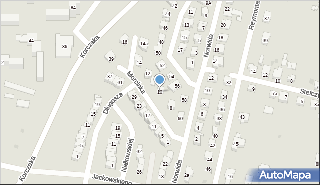 Grudziądz, Morcinka Gustawa, 10, mapa Grudziądza