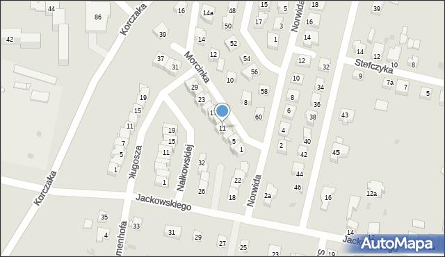 Grudziądz, Morcinka Gustawa, 11, mapa Grudziądza