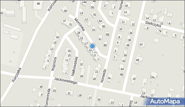 Grudziądz, Morcinka Gustawa, 7, mapa Grudziądza