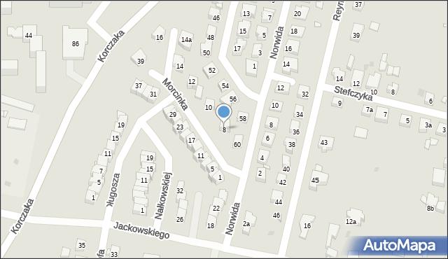 Grudziądz, Morcinka Gustawa, 8, mapa Grudziądza