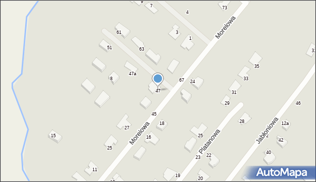 Grudziądz, Morelowa, 47, mapa Grudziądza