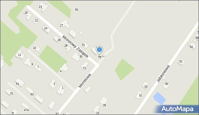 Grudziądz, Morelowa, 75, mapa Grudziądza