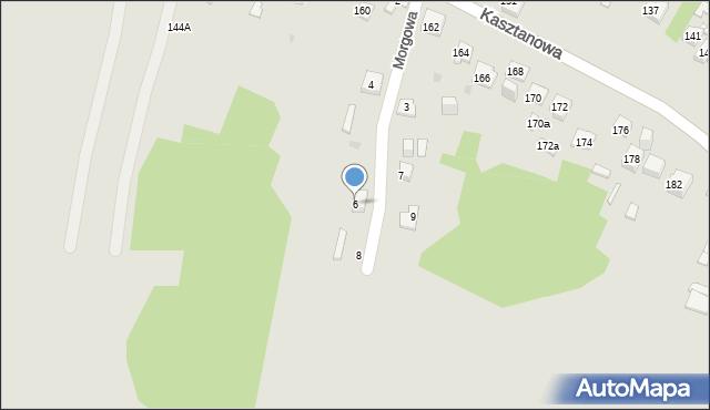 Jaworzno, Morgowa, 6, mapa Jaworzno