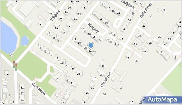 Józefosław, Montrealska, 33, mapa Józefosław