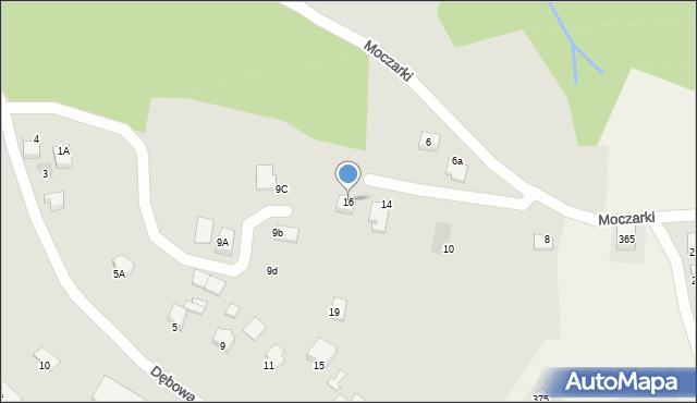 Limanowa, Moczarki, 16, mapa Limanowa