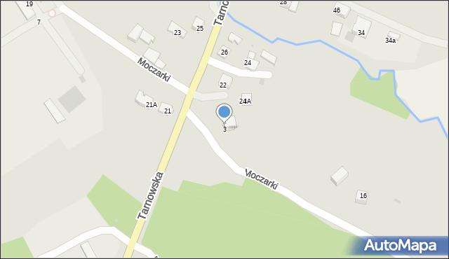 Limanowa, Moczarki, 3, mapa Limanowa