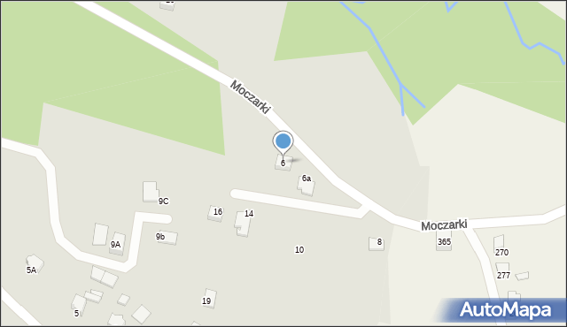 Limanowa, Moczarki, 6, mapa Limanowa