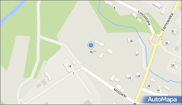 Limanowa, Moczarki, 76, mapa Limanowa