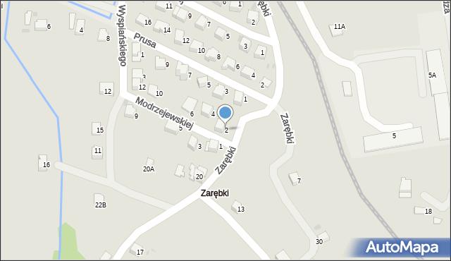 Limanowa, Modrzejewskiej Heleny, 2, mapa Limanowa