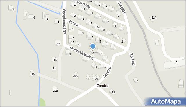 Limanowa, Modrzejewskiej Heleny, 6, mapa Limanowa