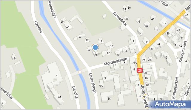 Limanowa, Mordarskiego Mieczysława, 16, mapa Limanowa