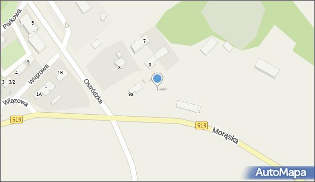 Małdyty, Morąska, 1, mapa Małdyty