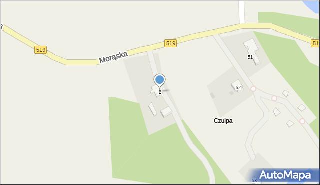 Małdyty, Morąska, 2, mapa Małdyty