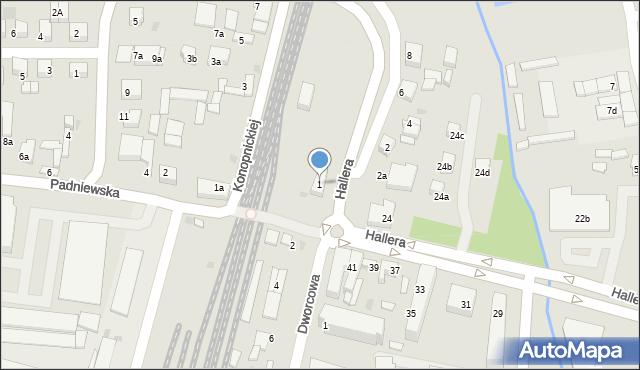Mogilno, Mostowa, 1, mapa Mogilno