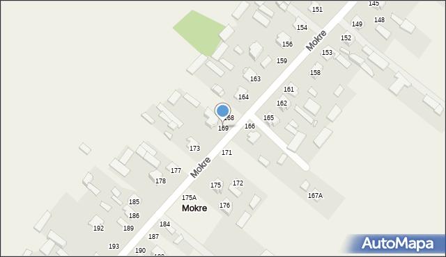 Mokre, Mokre, 169, mapa Mokre