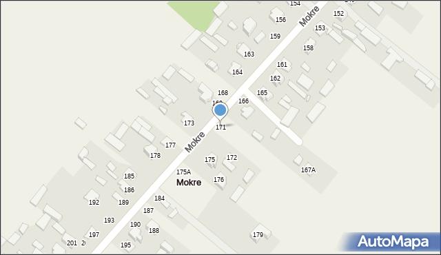Mokre, Mokre, 171, mapa Mokre